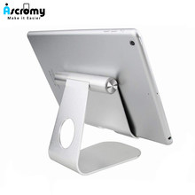 Ascromy Tablet Stand Holder Adjustable Aluminum Desktop Mount Cradle For iPad Pro Air Mini Samsung Tab Cell Phone Support Dock(China)