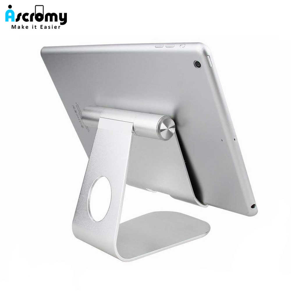 Ascromy Tablet Stand Holder Adjustable Aluminum Desktop Mount Cradle For iPad Pro Air Mini Samsung Tab Cell Phone Support Dock