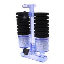 Аквариум био воздушный насос с фильтром управляемый губкой фильтрующий кислородный насос для аквариума фильтр питания