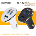 Original Remax 6.3A 3-Ports Super Fast USB Car Charger For Samsung Apple iPhone 5S 6S Plus iPad iPod 2.4A Cigar Lighter DC 24V