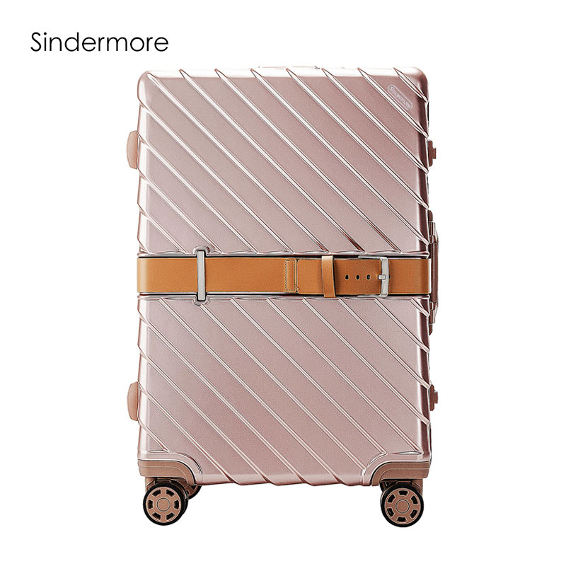 Sindermore 4-color 20 24 29 Aluminum Frame VS PC Travel Lugagge Carry One Hardside Rolli ...