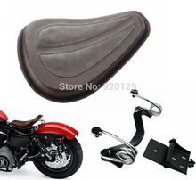 Brown Motorcycle Solo Seat Saddle Brackets For Harley Sportster 1200 883 XL1200L XL883C/R 2004-2014