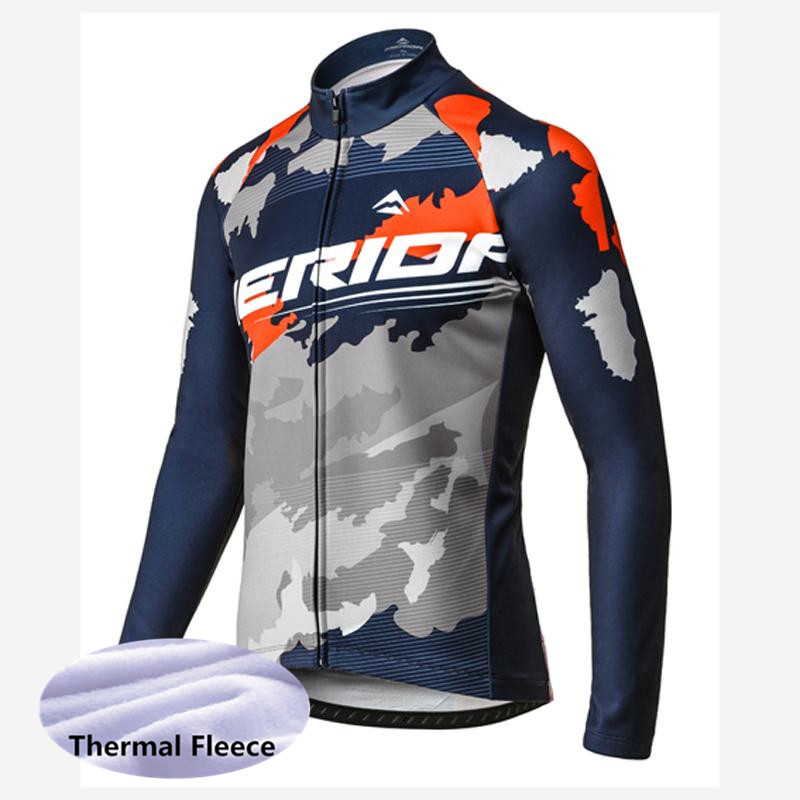winter Thermal fleece 2018 uci team merida cycling jersey jacket men warmer Bicycle maillot MTB bike clothing Ropa Ciclismo G169