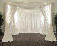 3 м * 3 м * 3 м белого цвета квадратный навес Пелерина/хупы/Arbor драпировкой с Swag для свадебные украшения, в том числе драпировкой и подставка