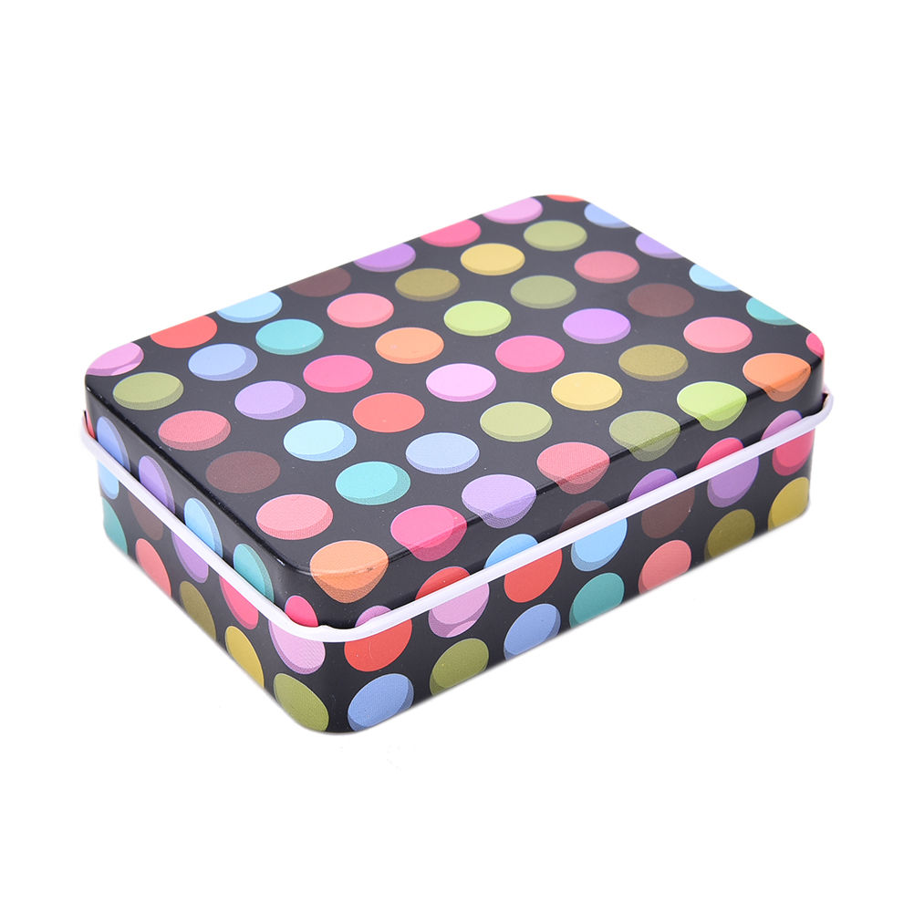 Office & School Supplies Peerless Small Storage Boxes Dot Print Clip Holder Case Mini Tin Metal Box Home Storage Stationery Desk Organizer Packing Boxes