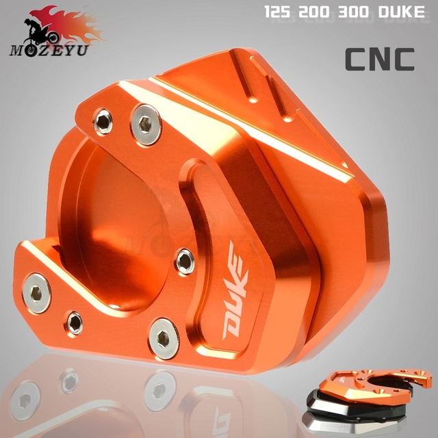 Motorcycle Accessories Side Stand Enlarge Kickstand Extension Plate Pad For KTM DUKE 125 200 390 690 DUKE125 DUKE200 2012 2013