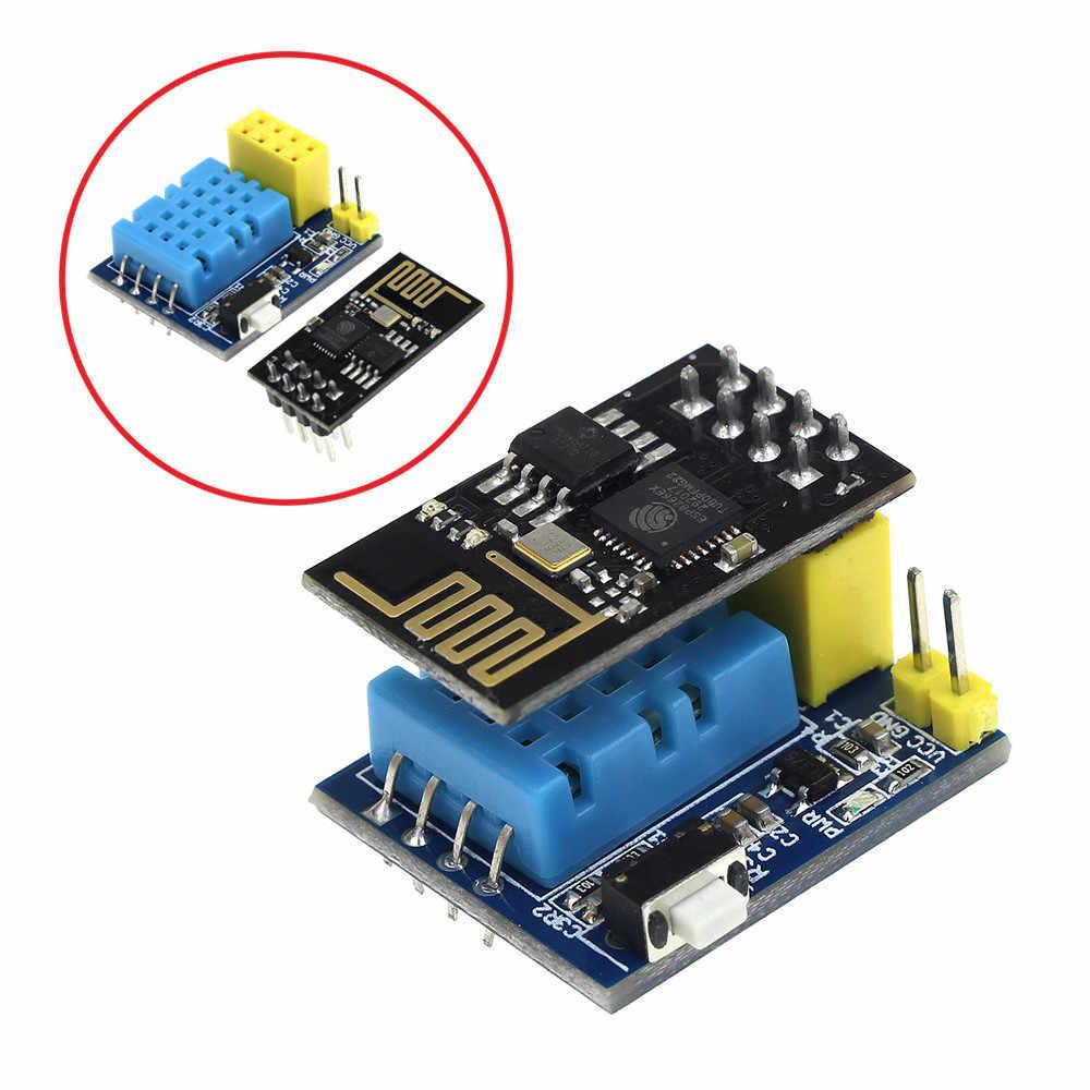 ESP8266 ESP-01 ESP-01S DHT11 טמפרטורת לחות חיישן מודול ESP8266 WIFI NodeMCU חכם בית IOT DIY קיט