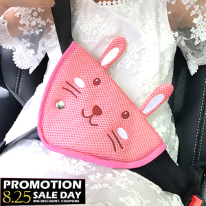 Image 2 - Triangle Seatbelt Adjuster Baby Kids Car Safe Seat Belt Adjuster Device Auto Safety Belt Pad Child Abdomen Belly Protection