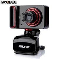 NKOBEE USB Webcam Camera With Mic Night Vision Web Cam USB Camera For Desktop PC Laptop