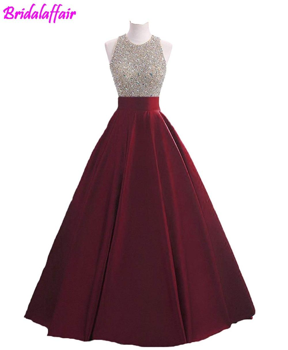 Paillettes pour femmes Keyhole retour robe de bal perlée bal robes formelles longue robe de bal robe formelle robe de soirée 2018 robe