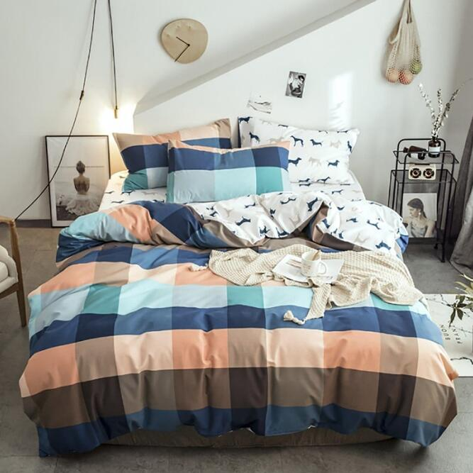 Brushed Cotton Bedding Set with Reactive Printing Duvet Cover Set Brushed Cotton Bedding Set with Reactive Printing Duvet Cover Set