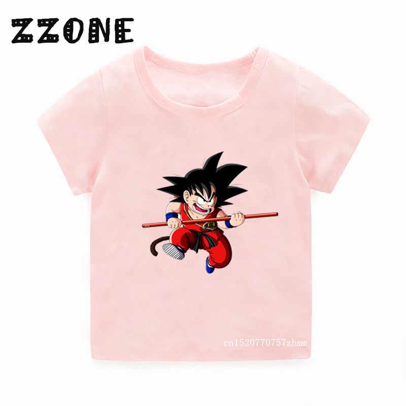 Детская футболка с принтом «Goku Dragon Ball Z» топы для мальчиков и девочек, смешной короткий рукав, Детская футболка одежда для малышей 5072 H