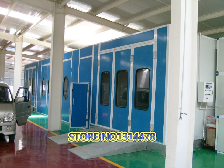 spray booth with Electric heating High quality for Sale