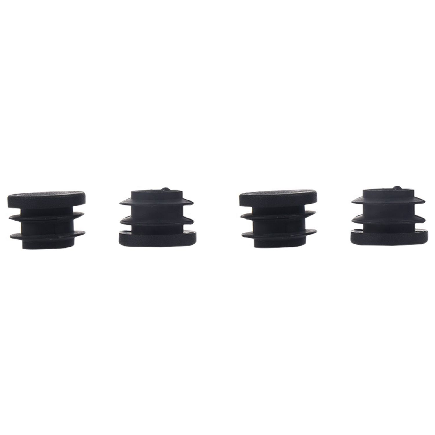 Hot Sale Blanking End Caps Round Tube Insert Cover 19mm Dia 20 Pcs Black