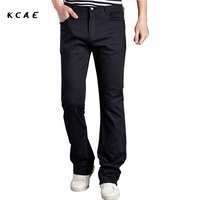 2016 New Arrival Fashion Men S Flared Trousers Men Khaki Pants Cotton Casual Solid Men Jogger
