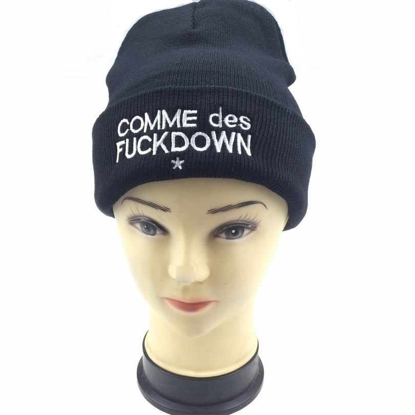 2016 New Fashion Women Men Caps COMME des Fuckdown Knitted Wool Beanie Hat Unisex Skullies Beanies Warm Winter Hats CP037 2016 new fashion women men caps comme des fuckdown knitted wool beanie hat unisex skullies beanies warm winter hats cp037