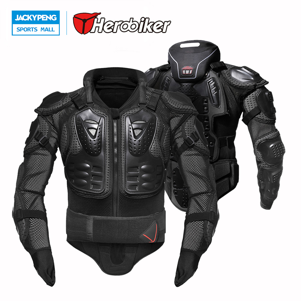 HEROBIKER Motorcycles Body Protection Motocross Clothing Jacket Protector Moto Cross Back Support Neck