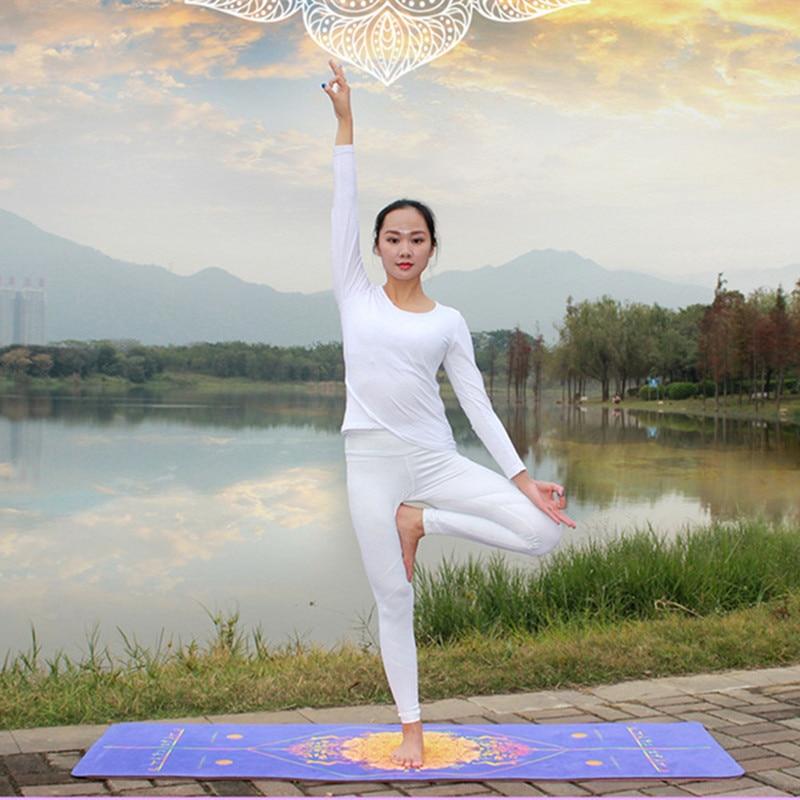 Yeni mikrofiber simmetrik stil yoga mat dəsmal idman fitnes idman - Fitness və bodibildinq - Fotoqrafiya 3