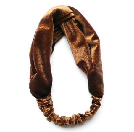 1pcs New Fashion Women Fashion Twisted Velvet Headbands Soft Turban Elastic Hairbands Bandage Velvet Twist Headband