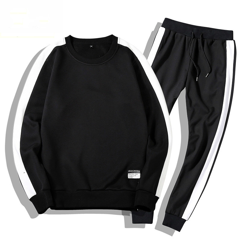 NEW Moleton Masculino Coats Tracksuits Men 2PC Outwear Sportsuit Sets Male Sweatshirts Men Set Clothing+Pants Hoodies Plus Size