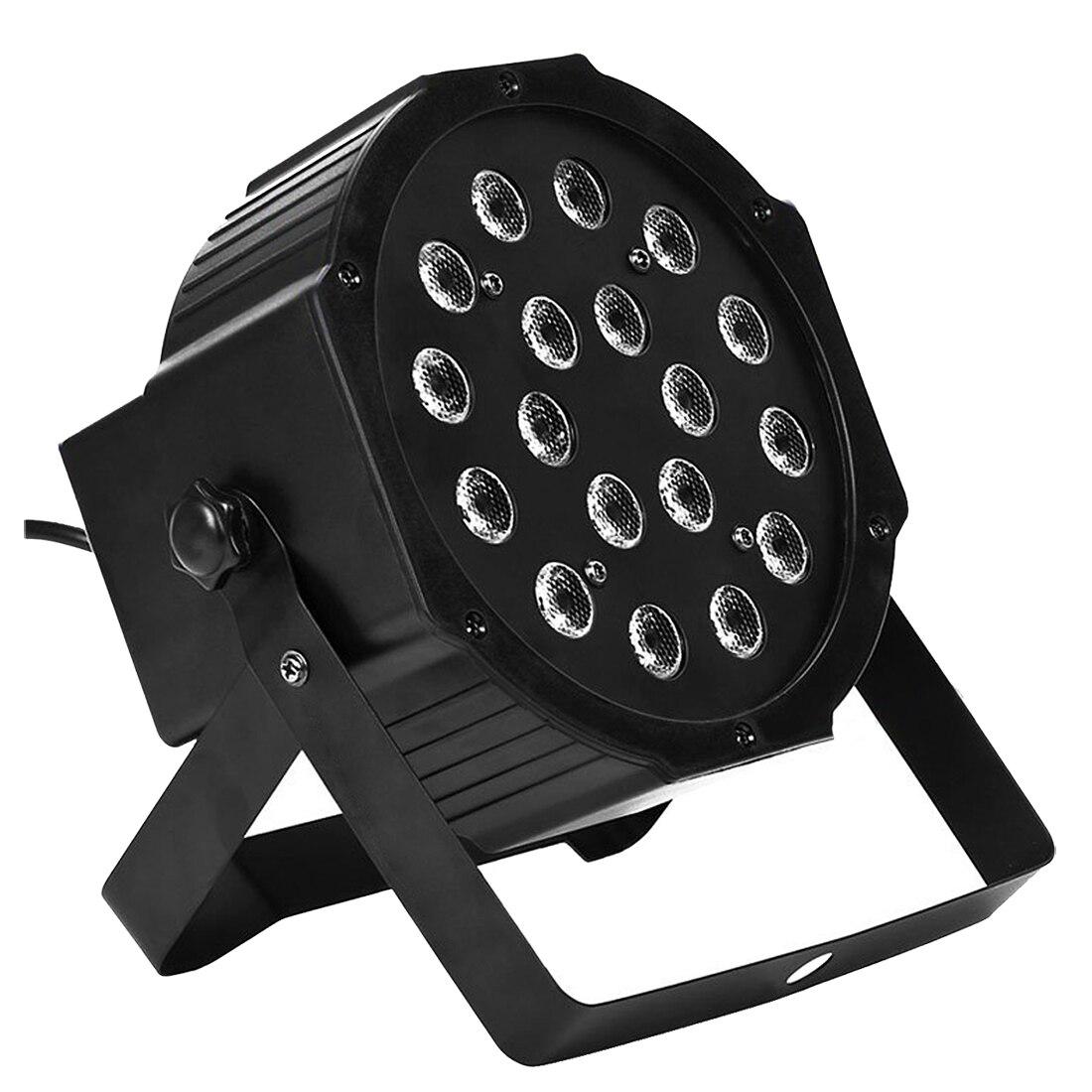 8PCS 18 X 3W LED DJ Par Lights 54W RGB PAR64 DMX512 For Stage Party Show