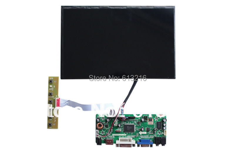 HDMI+DVI+VGA +Audio  LCD driver  board + 10.1 inch LCD panel 1280*800+LVDS cable +OSD keypad with cable