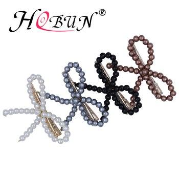 0a898d1e Coreano crepe perla pluma adornos para el cabello horquillas boda novias  accesorios para el cabello ...