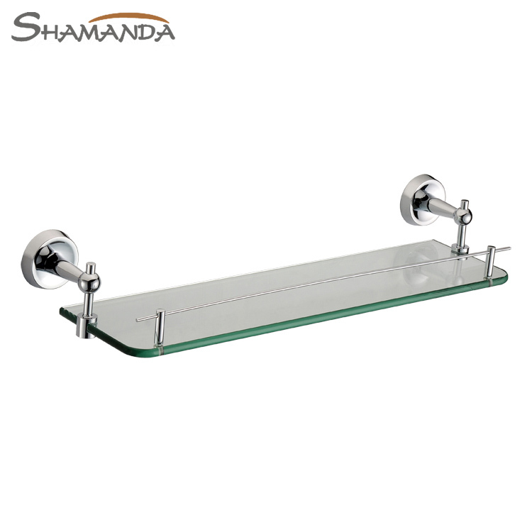 New Free Shipping Single Bathroom Shelf,solid Made Base+glass,dresser Shelf,bathroom Products,bathroom Accessories-50009 free shipping golden single bathroom shelf glass shelf brass made base glass shelf bathroom hardware bathroom accessories 67011