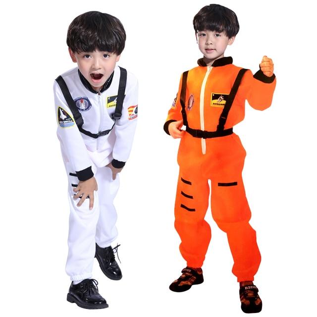 O envio gratuito de Halloween roupas meninos Traje astronauta astronauta roupas de dança máscara cosplay terno pilotos