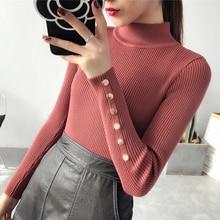 OHCLOTH свитер женский половина вниз шеи женский утолщение 2018 новый зимний свитер Тонкий Универсальный Эластичный вязать моды Тонкий Свитера
