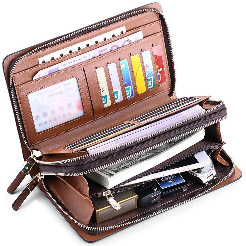 d7f3d9992971c 2018 Brand Fashion High Quality Designer Wallet Business Coin Pocket Phone  Case Wallet Luxury Wallet Men POLO162-in Wallets from Luggage   Bags on ...
