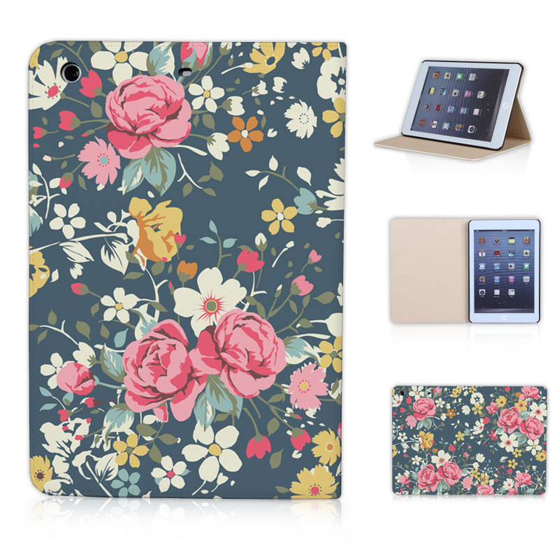BTD Vintage Flowers Dark Green Nice Looking Cover Case for ipad mini Free Screen Film P014-ip-mini