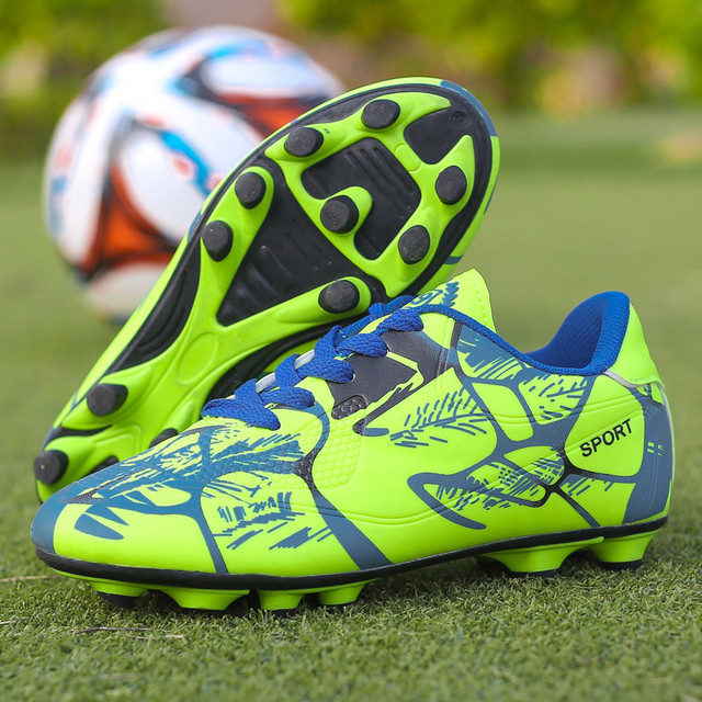 2019 Sports Shoe Cheap Kids Soccer Cleats Football Soccer Shoes Men Outdoor Lawn Sneakers Boy Trainers New Design Football Boots