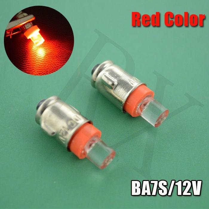 4X GREEN BLUE YELLOW WHITE BA7S 7mm Concave 1 LED 12V led auto bulb car lamp white LLB281 GLB281