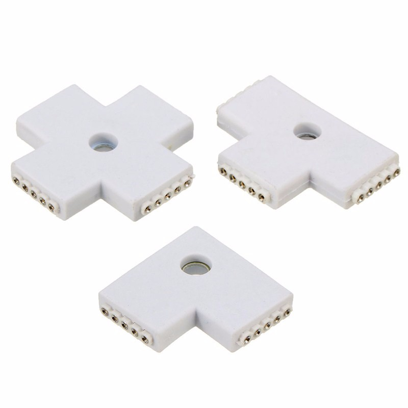 12mm L T X Shape 5 Pin RGBW For RGBW RGBWW LED Strip 5050 Flexible Light