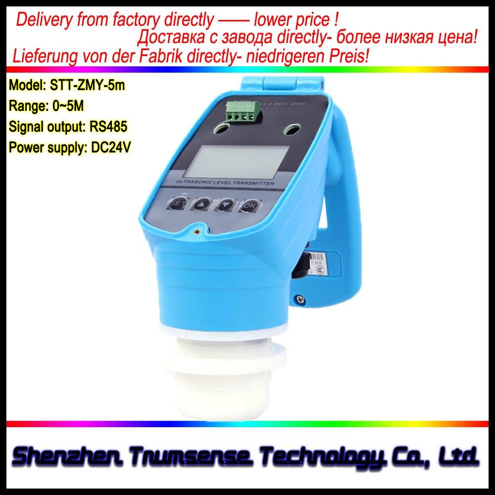 RS485 Выход ультразвуковой измеритель уровня/преобразователь/Сенсор диапазон 5 м 24VDC Питание ультразвуковой жидкости глубина датчик от фабри...