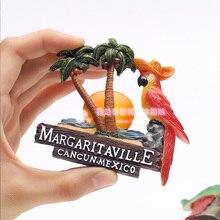 Мексика магнит на холодильник магнитный Канкун Мексика Канкун Тур попугай сувениры