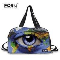 FORUDESIGNS Blue Eye 3D Design Mens Sport Gym Sack Bags for Women Fitness Ball Tote Bags for Basketball football Luggage Handbag