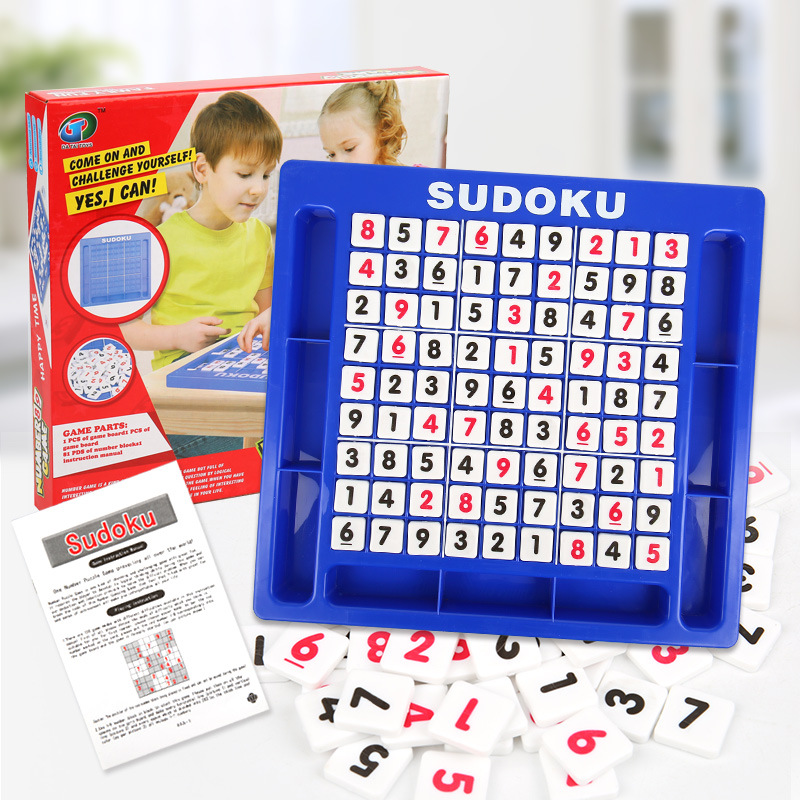 Digits Educational Toy Sudoku Chess Funny Children Game Drawer Type Gift Wooden Board Challenge Logic Training Intelligent