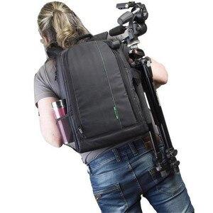 Image 5 - Torba na aparat plecak wodoodporny DSLR plecak wielofunkcyjny plecak na zewnątrz torba na aparat fotograficzny dla Nikon aparat Canon obiektyw DSLR