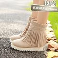 Plus size 34 to 43 women high quality height increasing platform boot lady casual beige autumn and winter boot botas femininas