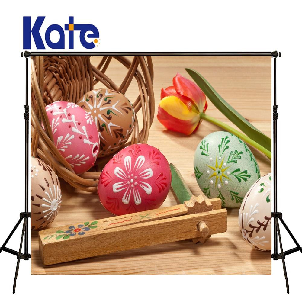 Easter Photography Backdrops Tulips Egg Basket Photography Background Easter Sunday Zj