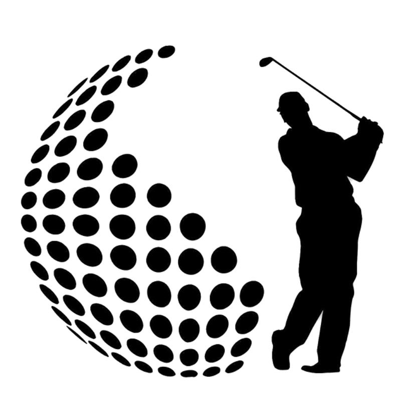 13.2CM*12CM Interesting Fashion Golf Sports Black/Silver Decor Vinyl Decal Car Sticker Silhouette S9-0903