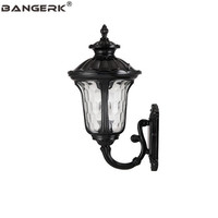 European Vintage Wall Lamp Outdoor Waterproof LED Light Wall Sconce Aluminum Glass Garden Balcony Aisle Porch Decor Lighting
