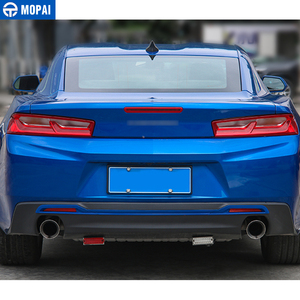 Image 2 - Mopai estilo do carro abs cauda carro amortecedor traseiro placa decoração guarnição adesivos para chevrolet camaro 2017 up acessórios do carro