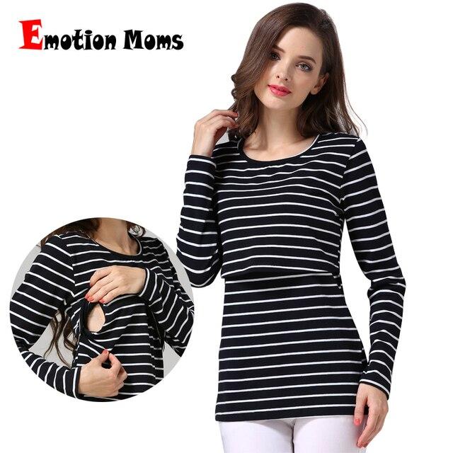 61a79ca328f2740 Эмоции мамы в полоску Одежда для беременных Грудное вскармливание Топы Уход  Топ Беременность Одежда для беременных