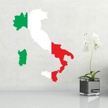 Flag map of Italy wall vinyl sticker custom made home decoration wedding PVC wallpaper fashion design