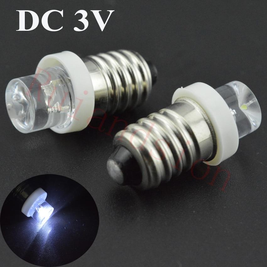 Warm White 3V E10 1447 style Screw In Led Bulb Light for DIY LIONEL 3V 20pcs