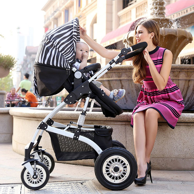 Babyfond High landscape baby stroller folding umbrella carts shock absorber high quality strollers russian wholesale new luxury baby stroller 3 in 1 high landscape three dimensional four round baby stroller carts strollers