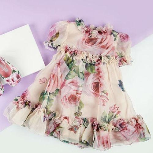 Girls Sunderss Toddler Flower Princess Party Dresses Baby Tutu Tulle Dress